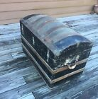 1800's Antique Stsgecoach Arch Top Camel Back Hump Back Steamer Trunk, Big