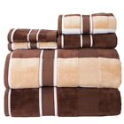 Lavish Home 67-0023-T 100 Percent Cotton Oakville Velour Towel Set 6 Piece,