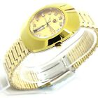 VINTAGE MEN'S RADO DIASTAR 35MM AUTOMATIC DAY DATE GOLDEN DIAL WRIST WATCH A39