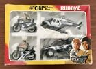CHiPs Police Set California Highway Patrol CHP Diecast Motorcycle Helicopter Car