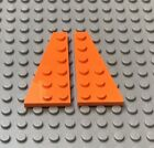LEGO Orange Wedge Plate 6x3 Pair Left and Right 3827 60196 3818 3834 60166