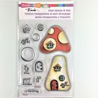 Stampendous Frans Clear Stamps  Cutting Dies Set Mushroom Home House Window