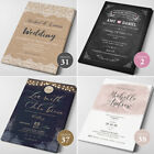 Wedding Invitations Personalised Day Evening RSVP Cards FREE Envelopes