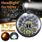 1PC 5 3 4 575 LED Projector Headlight Turn Signal For Harley Davidson Dyna