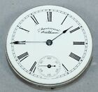 WALTHAM 0 SIZE HUNT CASE POCKET WATCH MOVEMENT - PARTS/REPAIR - LY1767