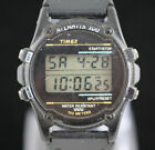 Vintage Timex Atlantis 100 Rare Men's Digital Black Watch Indiglo Alarm Chrono