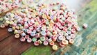 50 Letter Beads Alphabet Beads Acrylic Assorted Lot BULK Beads Wholesale