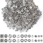 50 100X Tibetan Silver Metal Charms Loose Spacer Beads Wholesale Jewelry Making