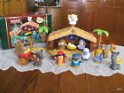 LIGHTED Fisher Price Little People Nativity Christmas Story Manger Stable MUSIC