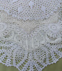 Big Vintage Doily Lot of Hand Crochet Lace WHITE DOILIES Medium Size 11 to 13