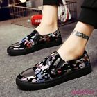 Mens Nightclub Casual Slip On Loafers Oxfords Metallic Toe Party Sneakers Shoes
