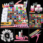Liquid Glitters Set Nail Art Set UV Gel Brushes Tools Kit US