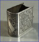 VINTAGE SILVERPLATE FIGURAL BOOK BIBLE NAPKIN RING