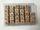 Stampin Up Classic Alphabet Upper and Lower Case Rubber Stamp Set
