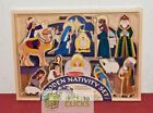 Melissa  Doug Classic Christmas Nativity Set W 4 Piece Stable and 11 Figures