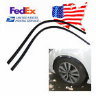 Black Rubber Strip Fender Flares Arch-Wheel Eyebrows Protect Anti-Scratch