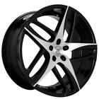 4pcs 20 Lexani Wheels Bavaria Black Machined Rims FS