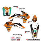 2005-2007 KTM EXC 300 400 450 525 GRAPHICS FACTORY RACING : ORANGE / BLACK DECAL