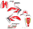 2003-2013 HONDA CR 85 CR85 CR85R GRAPHICS RED / BLACK MOTOCROSS DECALS KIT