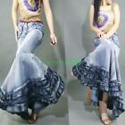 Sexy Womens Retro Vintage Fishtail Gown Jeans Denim Ultra Maxi Long Skirts Dress