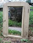 Antique Wooden Apothecary Medicine Cabinet Mirror 4 Cubby Shelves Old Barn Find