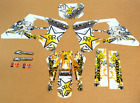 1993-1995 SUZUKI RM 125 250 GRAPHICS KIT RM125 RM250 ROCKSTAR : WHITE GOLD DECAL