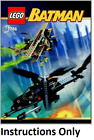NEW INSTRUCTIONS ONLY LEGO BAT COPTER CHASE FOR SCARECROW 7786 book from set