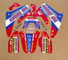 2003 - 2013 HONDA CR 85 STICKERS GRAPHICS CR85 LUCAS OIL : RED / BLUE DECALS