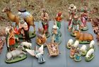 Vintage Columbia Statuary CS Large Chalkware Nativity Set 23 Pieces