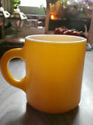 Vtg Milk Glass ? Coffee Tea Cup Mug Sunny Summer Yellow Textured Original Price