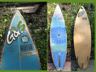 surfboard G  S Vintage Surf Board Russo 3 Fin Classic Old Blue Ivory Color