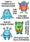 Little Monster Hugs Clear Unmounted Rubber Stamp Set Art Gone Wild NTMCS 009 New