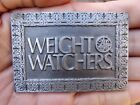 Vtg WEIGHT WATCHERS Belt Buckle DIET Health WW Fitness FOOD Pewter RARE VG++