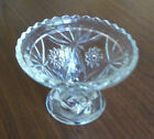 Early American Prescut EAPC Star of David Glass Punch Bowl Base Stand Pedestal