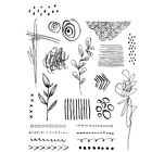Stampers Anonymous Tim Holtz Cling Mounted Rubber Stamp Set Mini Media Marks