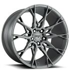 QTY4 20 Staggered Niche Wheels M182 Staccato Anthracite Rims FS