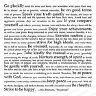Desiderata Cover A Card Background Unmounted Rubber Stamp Impression Obsession