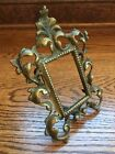 ANTIQUE BAROQUE ROCOCO BRONZE ORNATE PICTURE FRAME WITH STAND 7 x 5