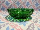 Vintage Fire King Forest Green Bubble Cereal Bowl in Excellent Condition.