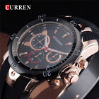 Curren Blue Rubber Men's Watches Fashion Quartz Sport Analog Wrist Watch