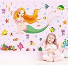 Wall Sticker Mermaid Pattern Removable Decal Kid Baby Room Wall Decor Practical