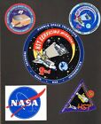 NASA Hubble Space Telescope Shuttle Servicing Stickers 2nd + 3rd Missions VG++
