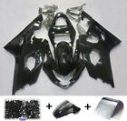 For Suzuki GSXR600 GSX-R 750 2004 2005 K4 Glossy Black Fairing Kit + Bolts 04 05