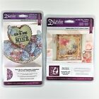Diesire Crafters Companion Lot Of 2 Die Sets Flutterby  Butterfly Garden