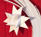Paper Strips to make 3D Stars Moravian Quilling All White  over 1600 strips