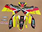 1999 - 2000 SUZUKI RM 250 GRAPHICS KIT RM250 ROCKSTAR : BLACK / RED DECALS KIT