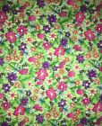 Marcus Bros FLORAL Pink Purple Green quilt sewing flannel fabric 15 yds