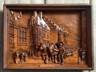 Antique Vintage Hand Carved Wood MUNCHEN 9 x12 3D Wall Art SIC 140 Germany RARE