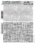Tim Holtz Cling Rubber Stamps MESH AND LINEN CMS221 Stampers Anonymous