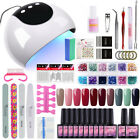 10 Colors Soak Off Gel Polish Kit 24W LED UV Curing Lamp Manicure Nail Tool